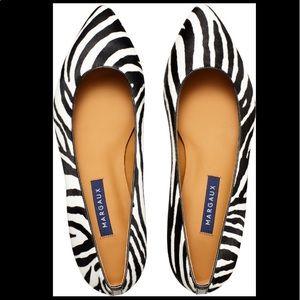 Margaux The Pointe Flats Zebra Calf Hair 8.5